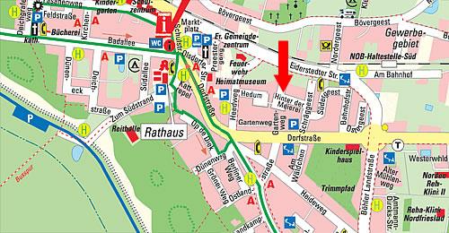 Sankt Peter Ording Karte.Kontakt Lageplan Ferienhaus Wildrose Ferienhaus Peter