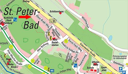 Sankt Peter Ording Karte.Kontakt Lageplan Ferienwohnung Landhaus Dünenkieker